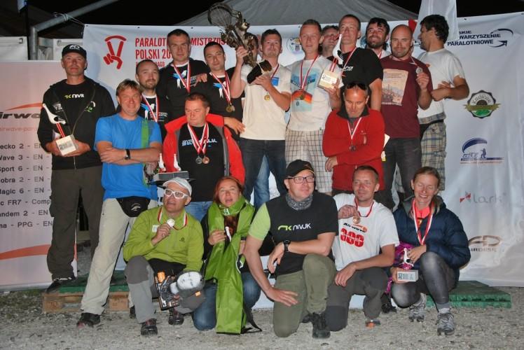 Paralotniowe Mistrzostwa Polski 2013 - zwycięzcy