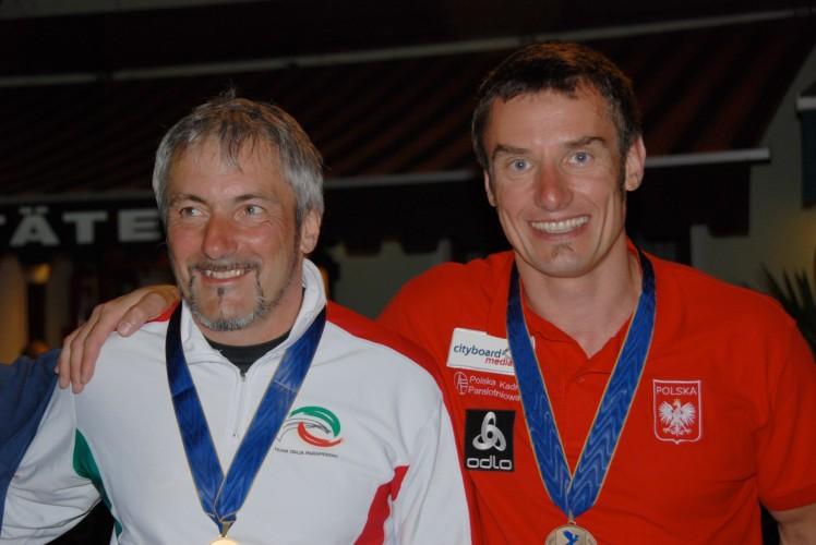 Rafał (z prawej) z Mistrzem Europy, Lucą Doninim