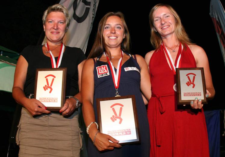 Od lewej: Kasia Gruźlewska-Łosik, Klaudia Bułgakowa, Agnieszka Dobrzańska